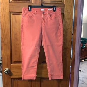 J.Jill authentic fit cropped ankle jeans size 8 p